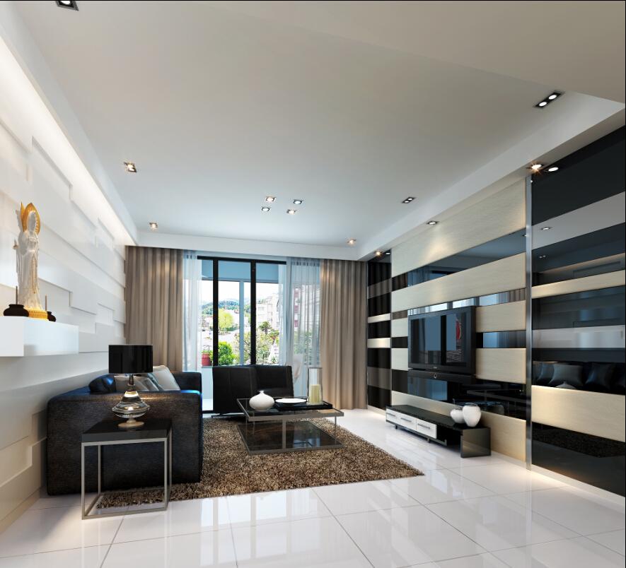 三居 现代 简约 奥邦装饰 小资 白领 客厅图片来自上海奥邦装饰在锦绣逸庭148平户型现代简约时尚的分享