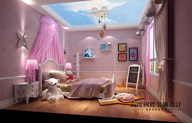 欧式 洋房 儿童房图片来自高度国际设计装饰在鲁能7号院186㎡花园洋房欧式风格的分享