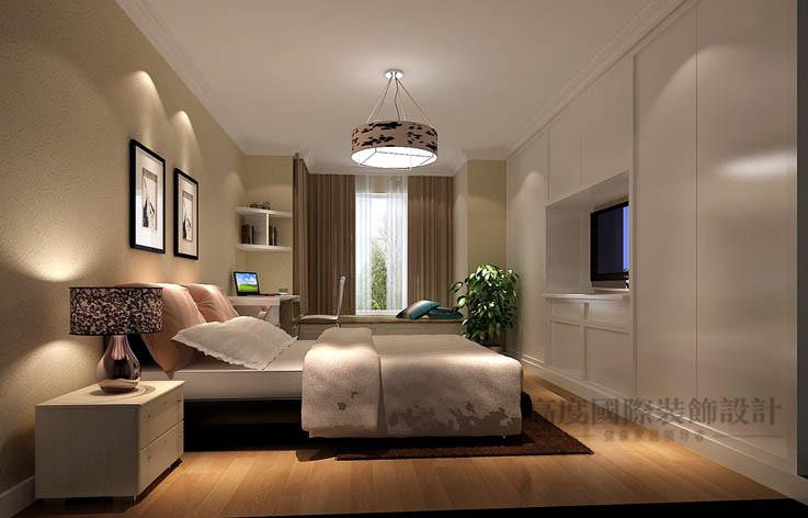简约 现代 一居 卧室图片来自高度国际设计装饰在中景江山赋86㎡现代简约风格的分享