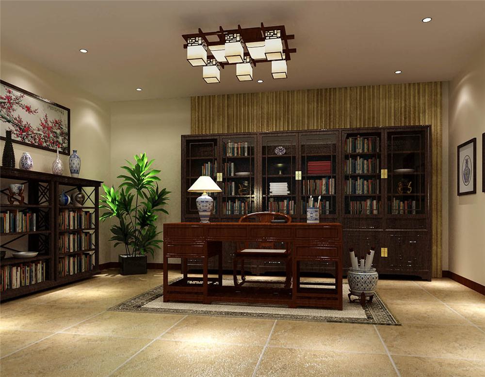 别墅 白领 收纳 小资 书房图片来自实创装饰完美家装在龙山新新小镇中式清韵中国风的分享