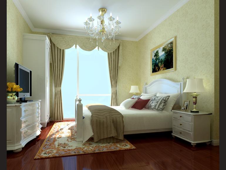 卧室图片来自亚光亚装饰在光感十足孔雀城的分享