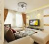 亮点:定制的隔断做沙发背景,增强了空间的美观,不落于俗。洁白的纱帘轻松隔离外界的喧嚣,米白色的小沙发和乳白色的茶几打造完美的午后休闲时光。