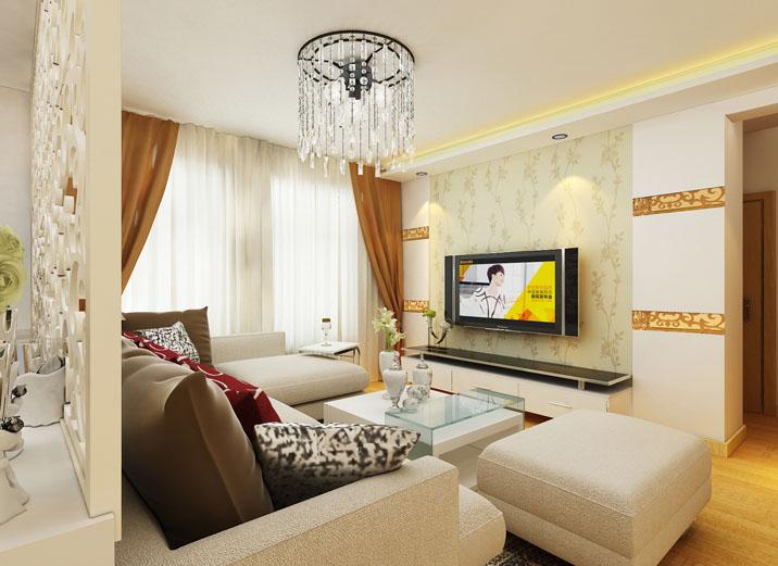 现代简约风 三居室设计 婚房设计 装修效果图 客厅图片来自上海实创-装修设计效果图在114平米君悦湾现代简约风格设计的分享