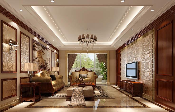 欧式 洋房 客厅图片来自高度国际设计装饰在旭辉御府177㎡花园洋房欧式风格的分享
