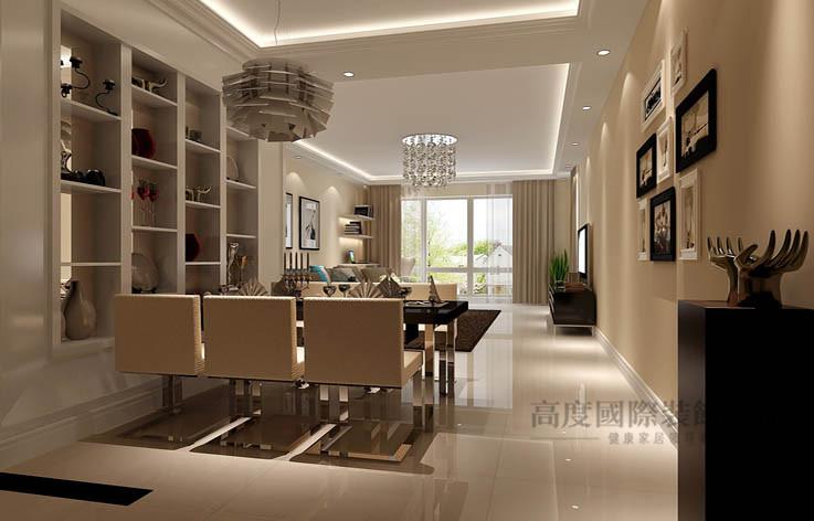 简约 现代 一居 餐厅图片来自高度国际设计装饰在中景江山赋86㎡现代简约风格的分享