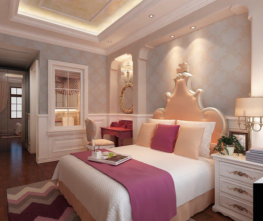 美式 别墅 白领 尚层装饰 女儿房 卧室图片来自北京别墅装修案例在温馨浪漫的美式家庭的分享