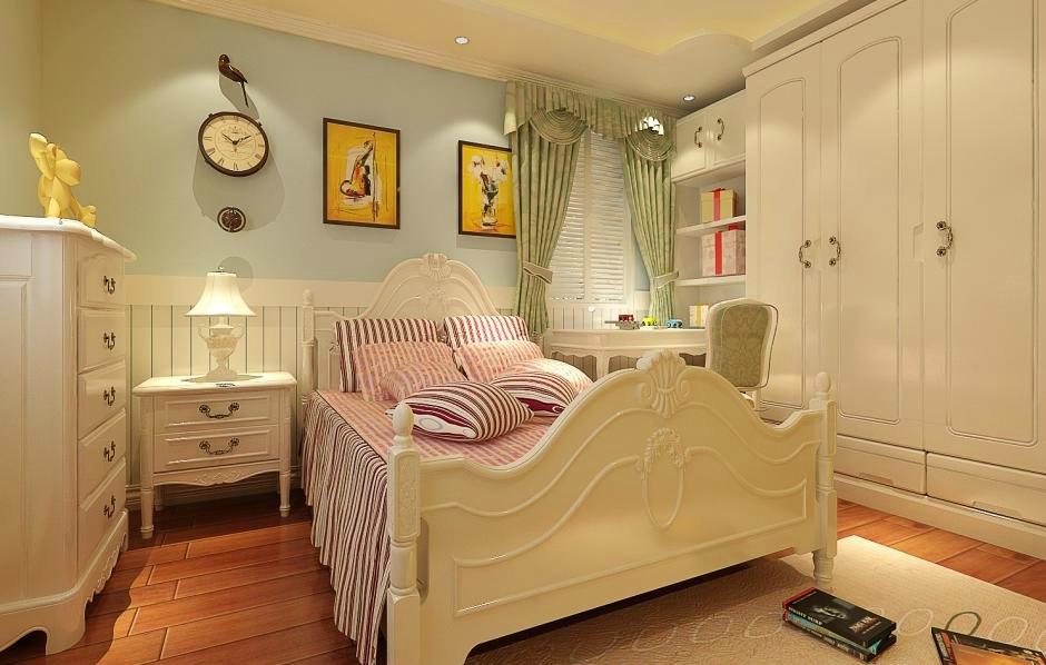 武汉实创 纯水岸东湖 三居 简欧风格 白领 儿童房图片来自静夜思在19万打造纯水岸东湖大气欧式空间的分享
