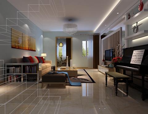 简约 混搭 别墅 客厅图片来自合建装饰总部在孔雀城华丽范现代简约风格的分享