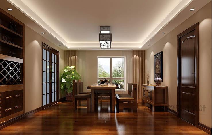 中式 公寓 餐厅图片来自高度国际设计装饰在军区大院150㎡新中式 风格的分享