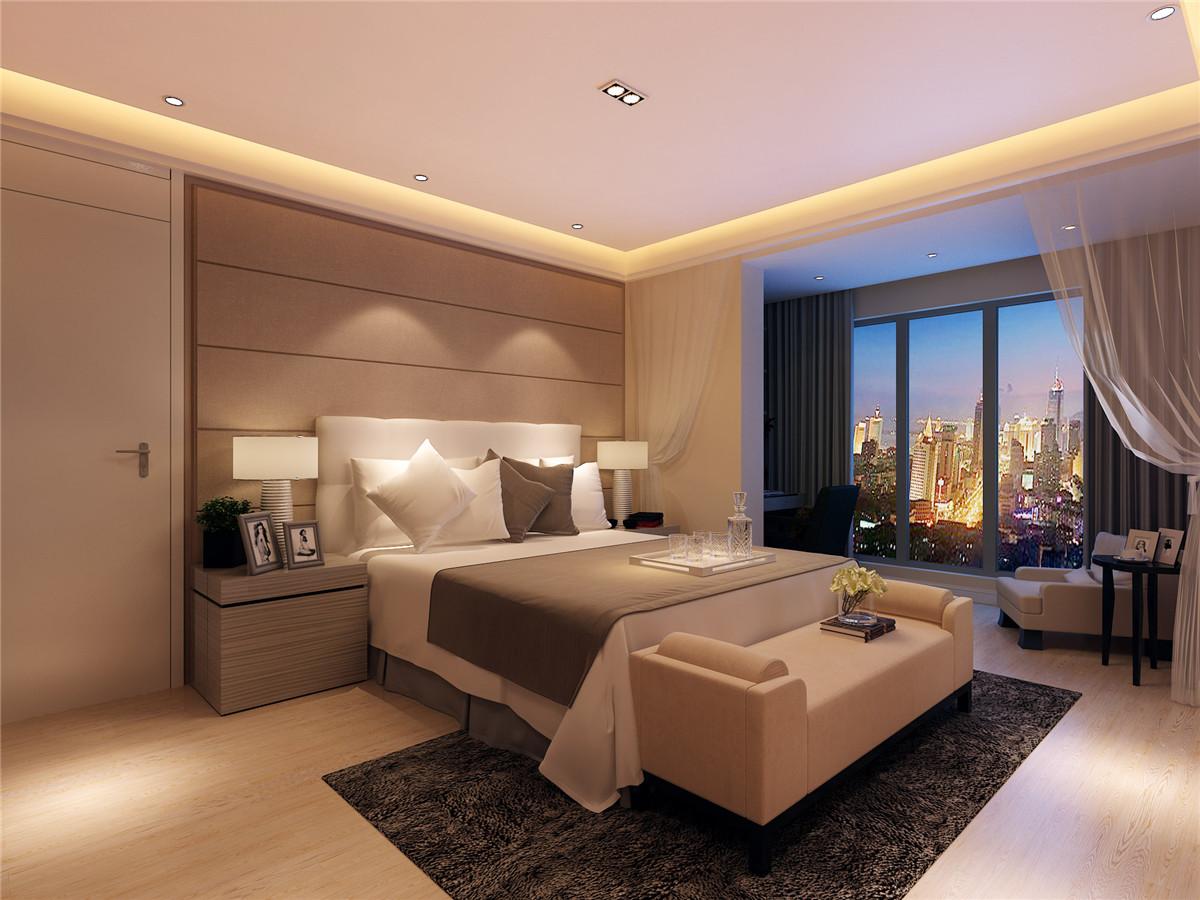 简约 三居 白领 收纳 80后 小资 卧室图片来自上海奥邦装饰在浦江华侨城大三居真实案例展示的分享