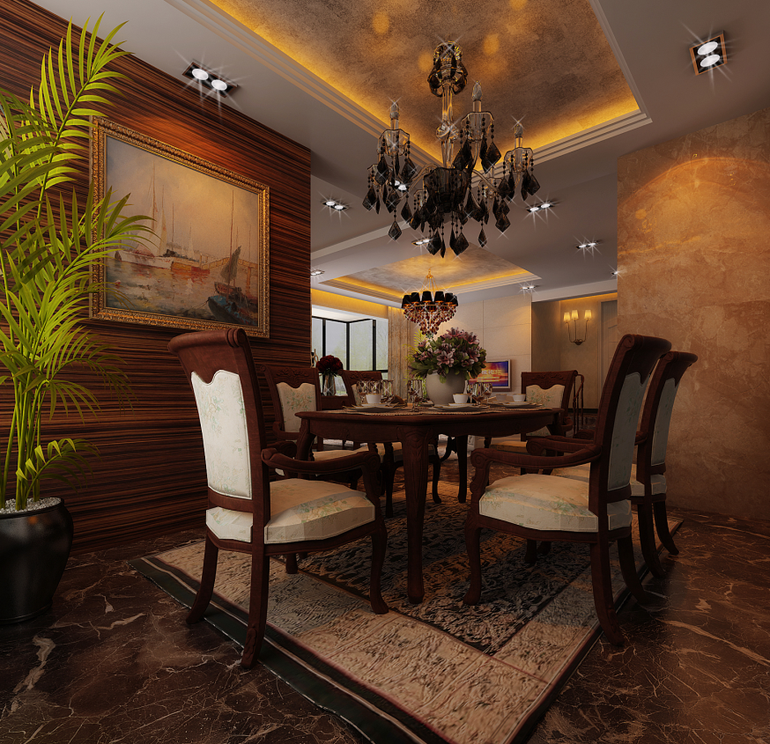 简约 别墅 餐厅图片来自亚光亚装饰在沉稳大气又高端的分享