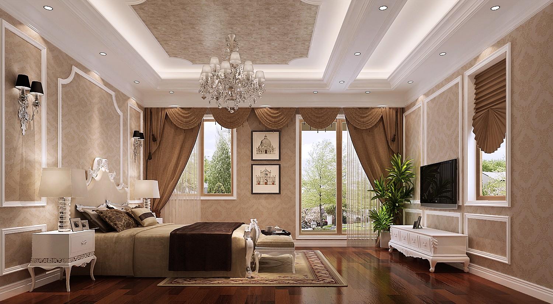 高度国际 原河名墅 时尚 美式 白领 80后 别墅 小资 白富美 卧室图片来自北京高度国际装饰设计在原河名墅浪漫美式的分享