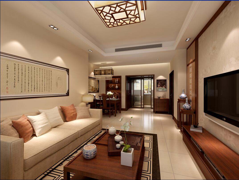 简约 复式 80后 白领 收纳 客厅图片来自上海奥邦装饰在上海浦江华侨城新中式复式户型设的分享