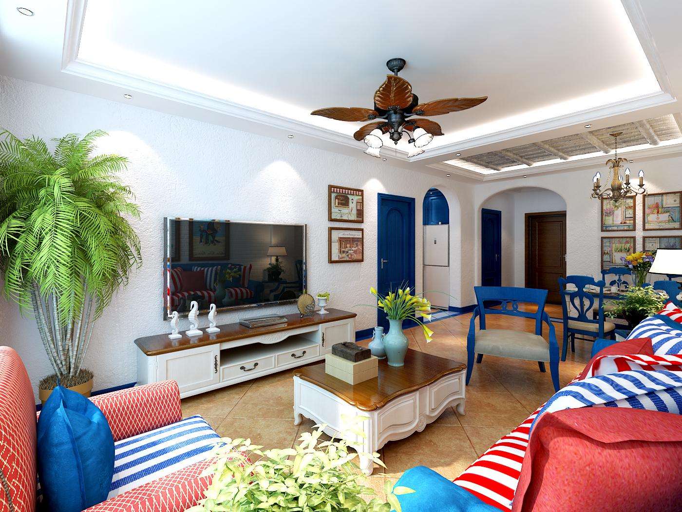 混搭 三居 白领 收纳 80后 小资 客厅图片来自shichuangyizu在门头馨村90平米地中海风格的分享