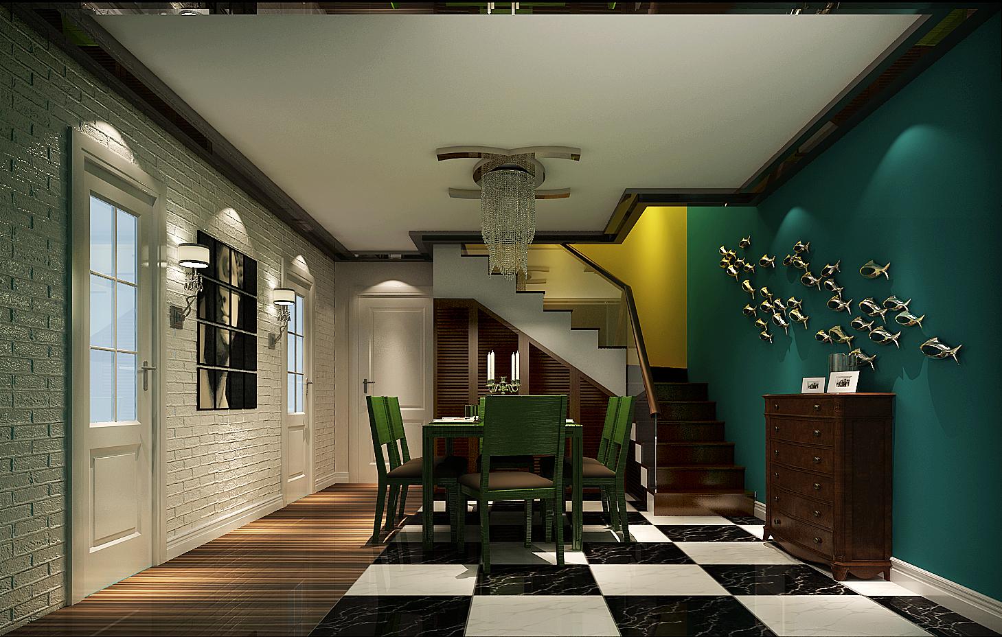 高度国际 复式 白领 餐厅图片来自凌军在3.7w打造个性时尚的两人世界的分享