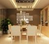 整体是暖色调,温馨又富有时尚感,餐厅背景是深咖色的乳胶漆以及竖镜造型,加以改动和提取,使客厅和餐厅更加密切的结合,符合整体风格。