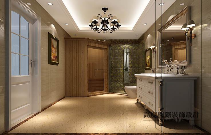 欧式 洋房 卫生间图片来自高度国际设计装饰在鲁能7号院186㎡花园洋房欧式风格的分享