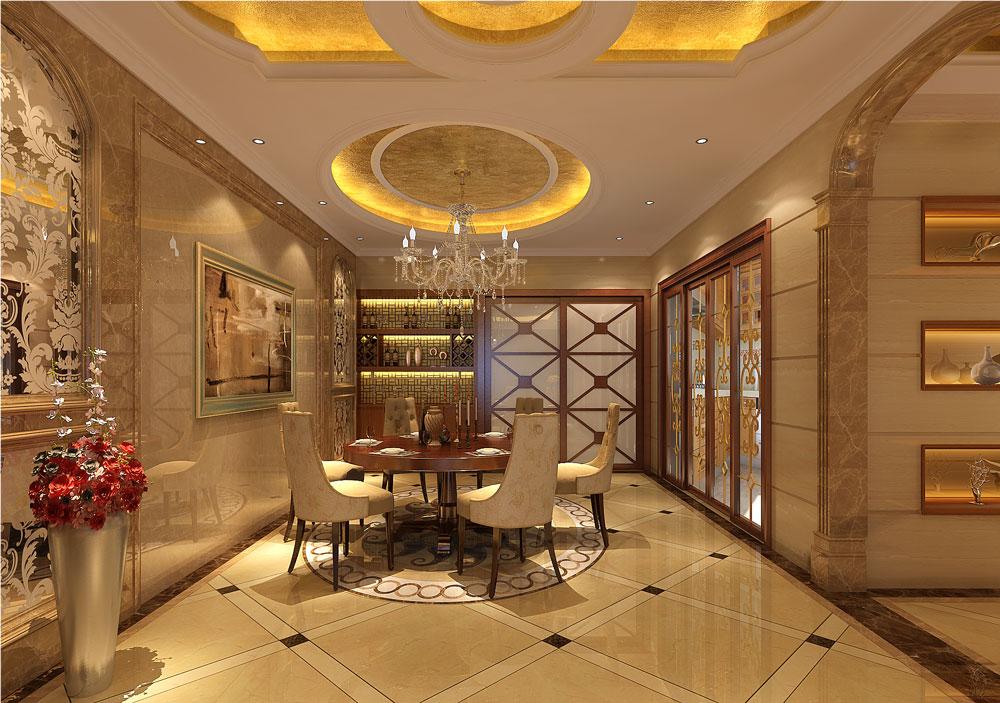 欧式 田园 简约 别墅 白领 餐厅图片来自好易家装饰集团在水木丹华的分享