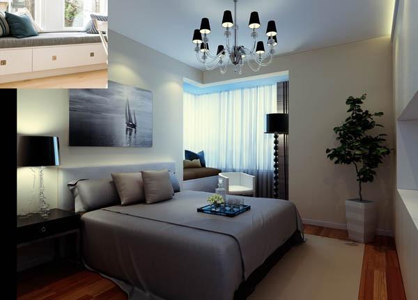 130平马赛公馆卧室效果图展示