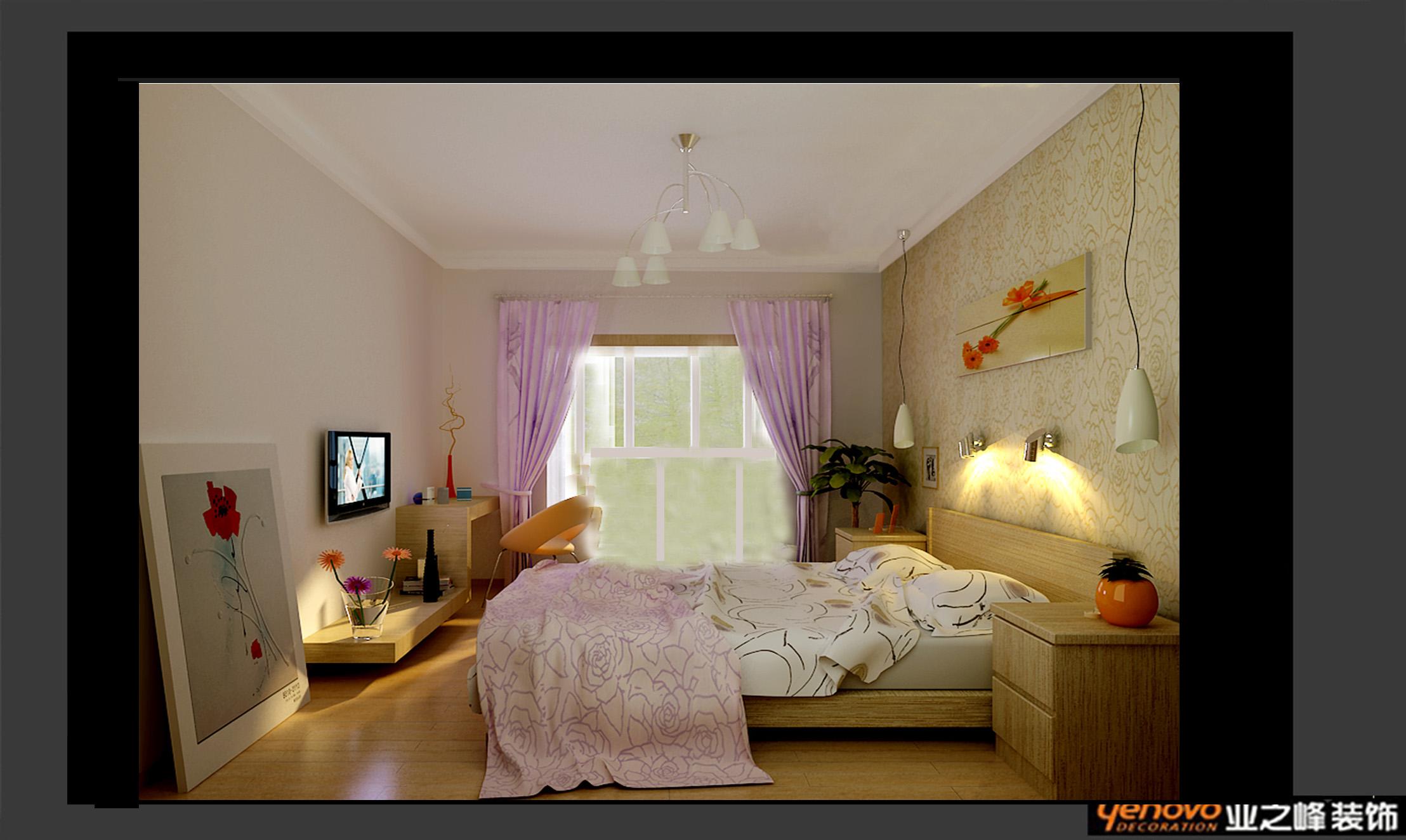 业之峰装饰 效果图 金域上郡 三居 现代风格 卧室图片来自文金春在金域上郡装修效果图的分享