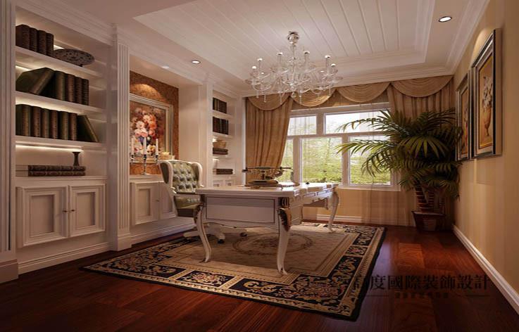 欧式 洋房 书房图片来自高度国际设计装饰在鲁能7号院186㎡花园洋房欧式风格的分享