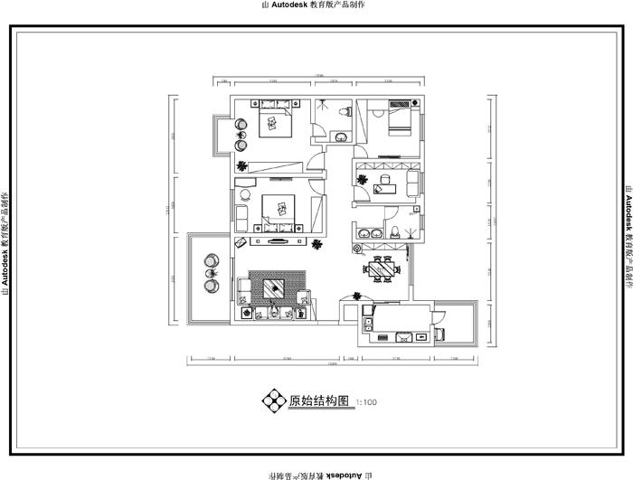 现代 业之峰装饰 海马公园 四居 效果图 户型图图片来自北京业之峰郑州直营店在海马公园现代风格装修效果图的分享
