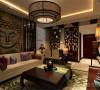 整个空间运用的都是木家 具,富有中国元素的灯具、挂画、壁纸等,让空间显得古色古香。
