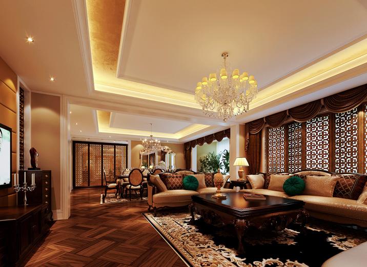 欧式 三居 收纳 奢华 大气 舒适 温馨 客厅图片来自武汉实创装饰在演绎法式浪漫,将凡尔赛宫搬回家的分享