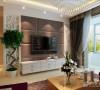 电视背景墙是软包搭配镂空雕花板造型,显得空间更加灵动和活跃。
