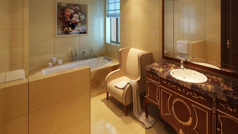 木樨地公寓 别墅 简欧风格 高度国际 装饰设计 卫生间图片来自高度国际装饰宋增会在10万打造简欧别墅的分享