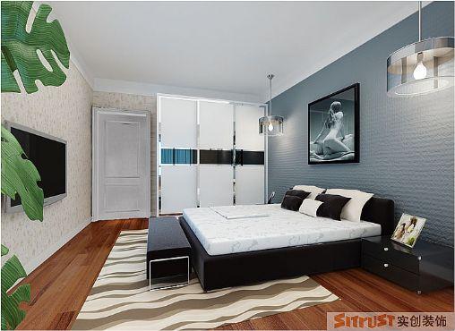 卧室图片来自多芬宝贝在现代风格-115平三居室的分享