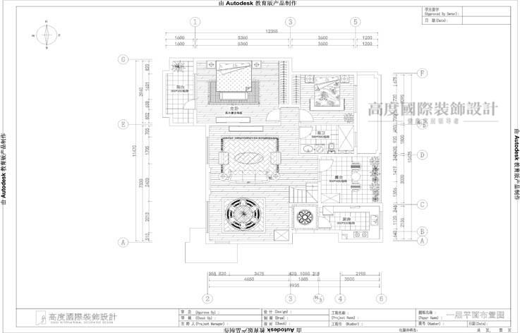 欧式 三居 户型图图片来自高度国际设计装饰在鲁能7号院186㎡花园洋房欧式的分享