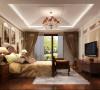 该空间设计风格给人营造出典雅、高贵、浪漫的气质,在室内一些材料壁纸、地毯、古典装饰画巧妙的点缀了空间的整体感觉
