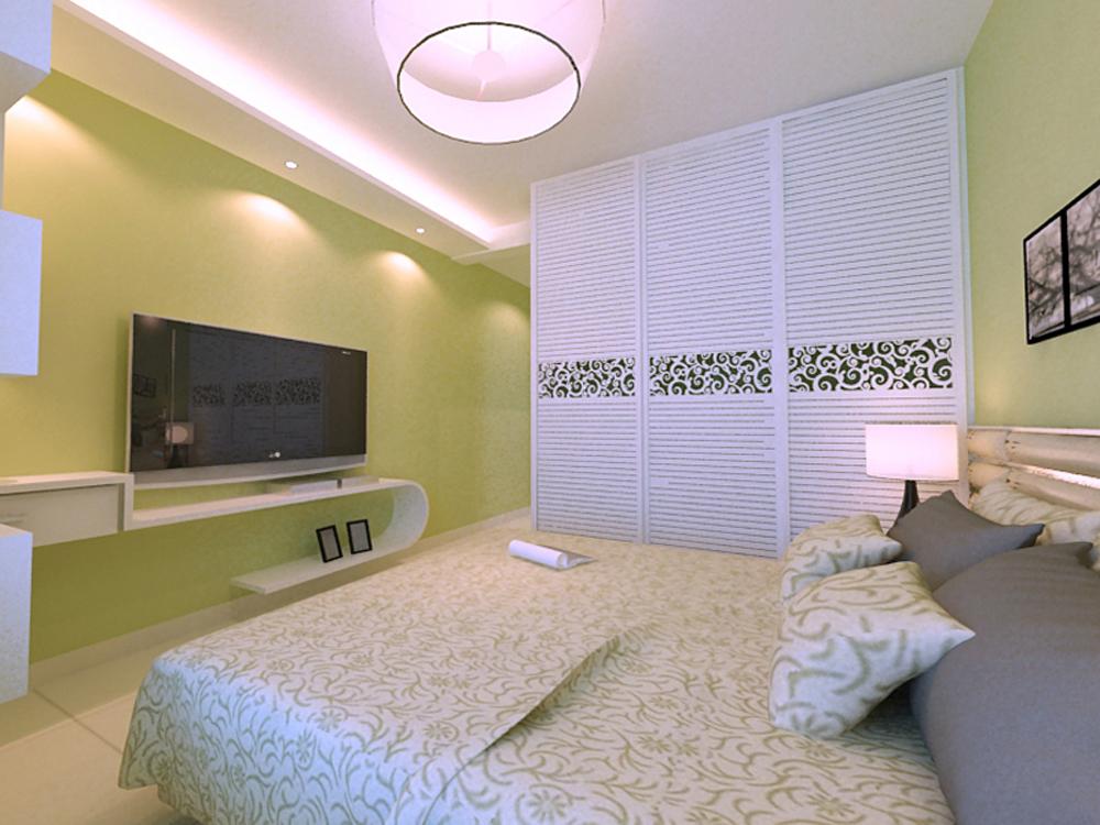 宝利国际 业之峰 现代简约 卧室图片来自业之峰装饰李鑫在宝利国际120平米简洁大方的分享