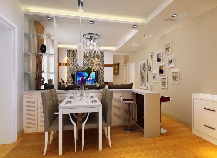 现代简约风 三居室设计 婚房设计 装修效果图 餐厅图片来自上海实创-装修设计效果图在114平米君悦湾现代简约风格设计的分享