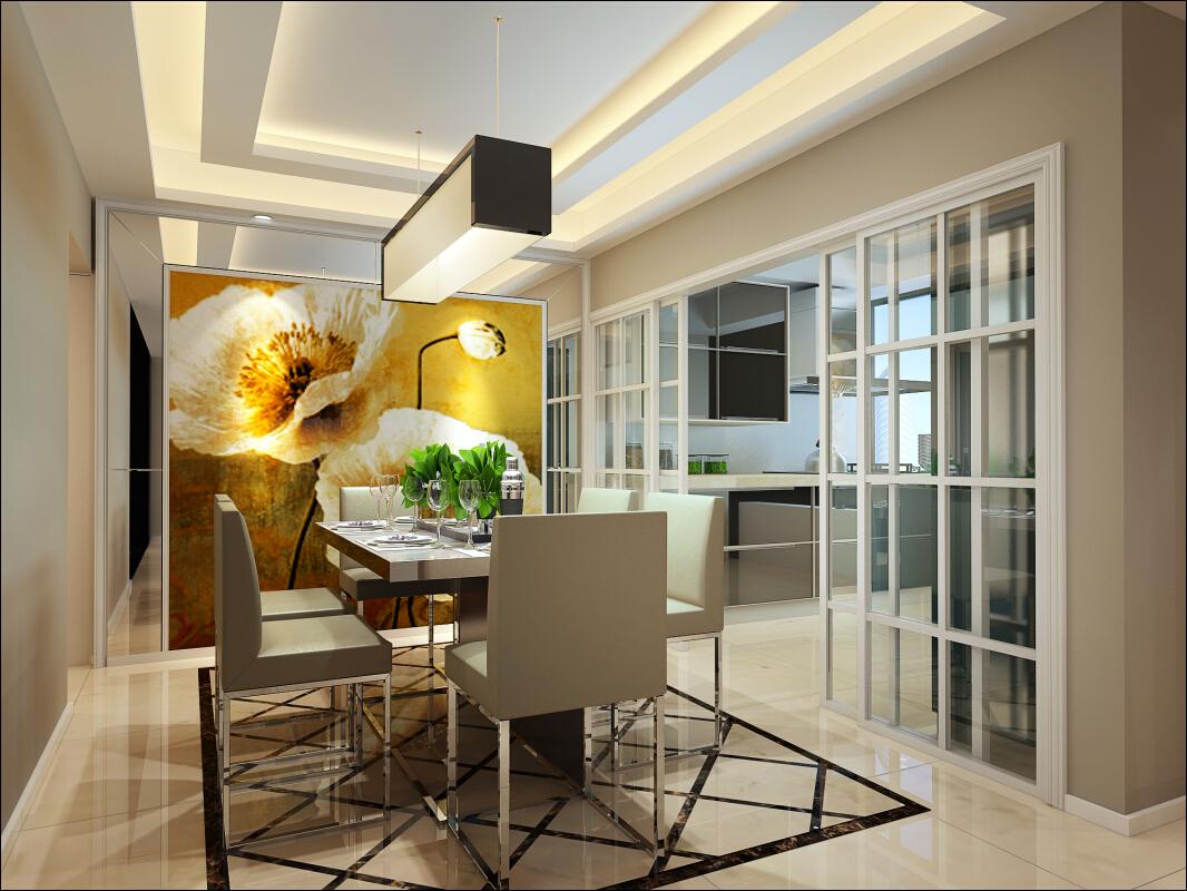 新古典 四居 奥邦 高娟 餐厅图片来自上海奥邦装饰在锦绣逸庭四居室装修设计新古典的分享