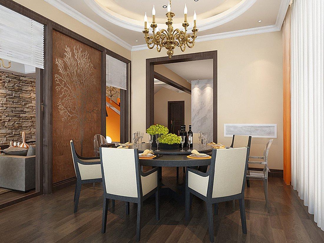 混搭 别墅 白领 尚层装饰 餐厅 餐厅图片来自北京别墅装修案例在黑白时尚混搭生活的分享