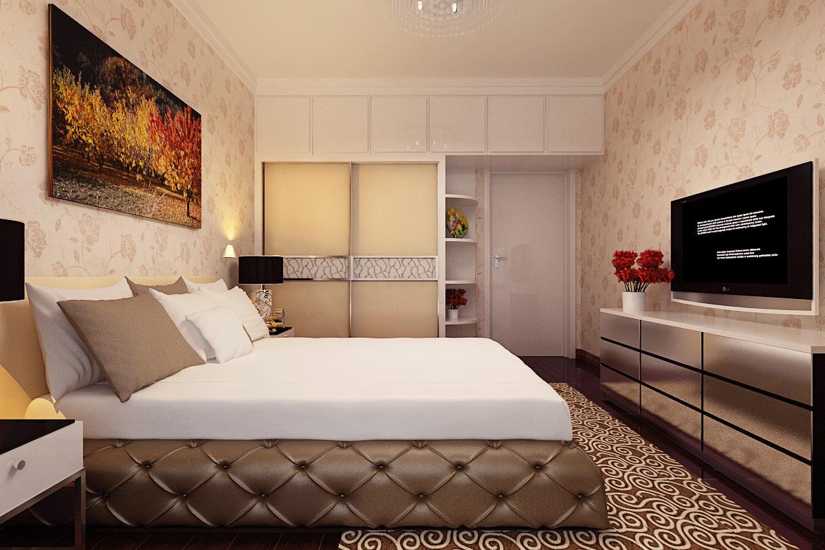 简约 保利百合 装修效果图 客厅设计 卧室图片来自曹素雅美巢装饰在保利百合装修108平方的分享