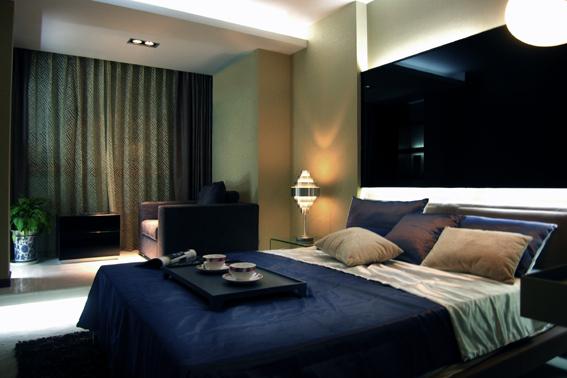 简约 混搭 二居 白领 收纳 80后 卧室图片来自武汉实创装饰在东丽国际展现绚丽现代的分享