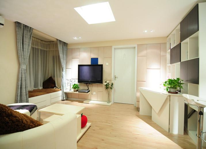 客厅图片来自xushuguang1983在三口之家翻新的60平米一居室的分享