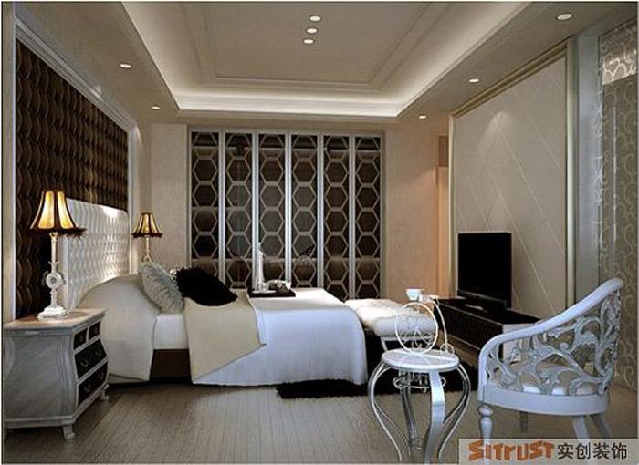 卧室图片来自多芬宝贝在7.9万装混搭风格-120平三居室的分享