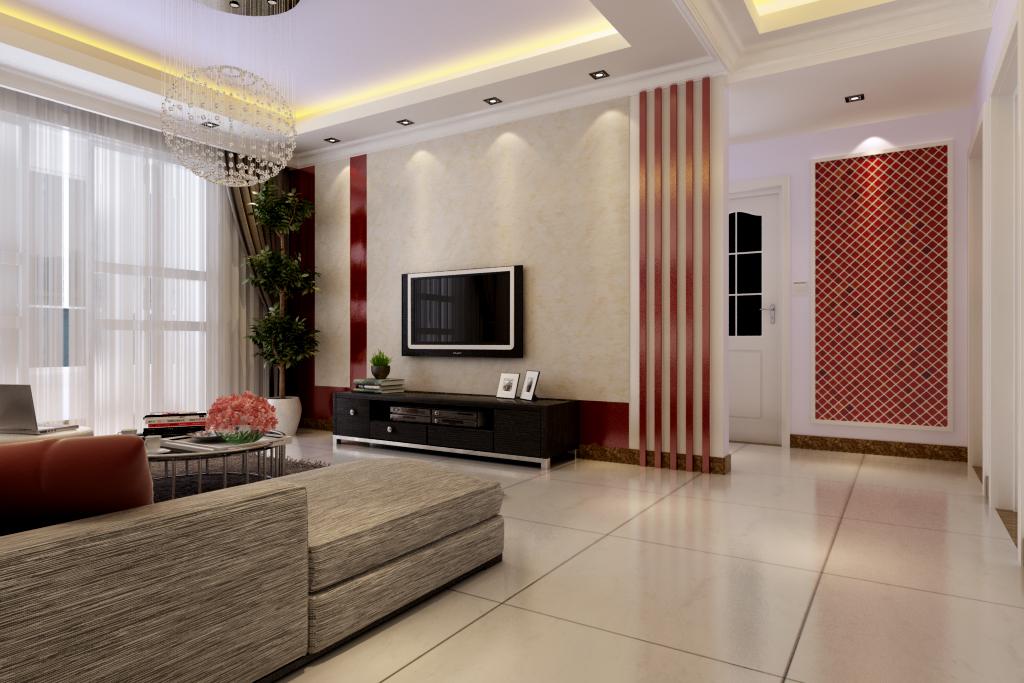 简约 保利百合 装修效果图 客厅设计 客厅图片来自曹素雅美巢装饰在保利百合装修108平方的分享