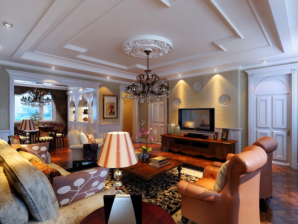 客厅图片来自潍坊万泰装饰在安丘家族自建别墅的分享