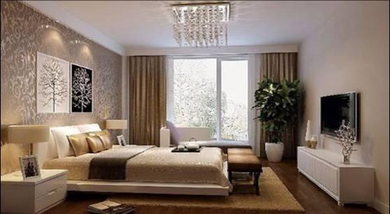 卧室图片来自轻舟装饰-90后的华仔在红木林-109平米-现代风格的分享