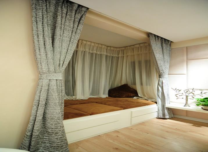 卧室图片来自xushuguang1983在三口之家翻新的60平米一居室的分享