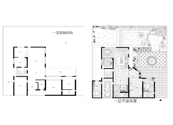 别墅 现代别墅 新新小镇 实创装饰 户型图图片来自xushuguang1983在新新小镇388平米简洁度假别墅的分享