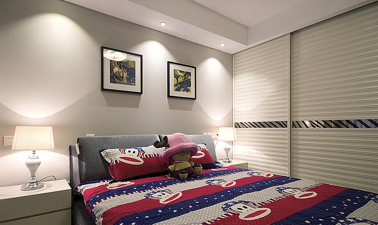 高度国际 球迷 现代 三居 80后 卧室图片来自凌军在决赛之季,来看看球迷的家的分享