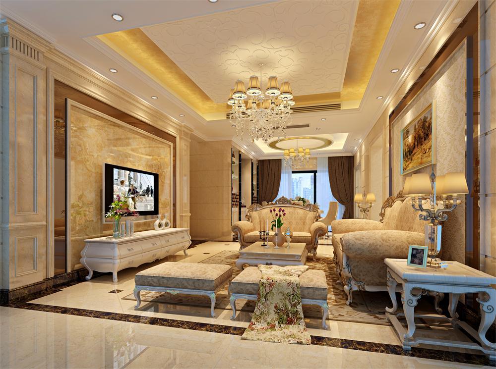 客厅图片来自深圳市浩天装饰在绿茵华庭的分享