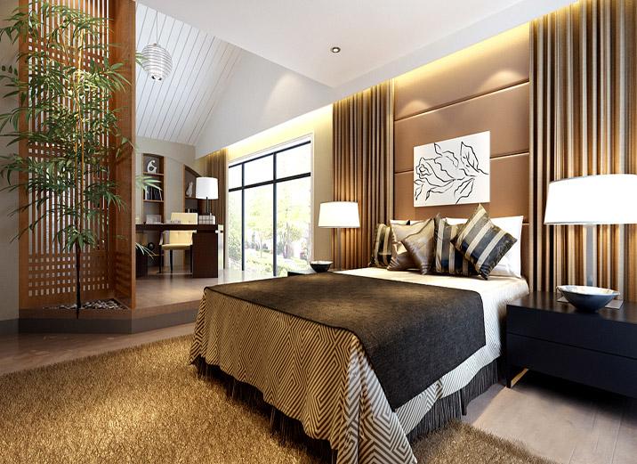 别墅 现代别墅 新新小镇 实创装饰 卧室图片来自xushuguang1983在新新小镇388平米简洁度假别墅的分享