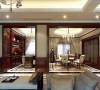 餐厅没有过多的装饰,简洁的吊顶,结合中式酒柜,外加现代简约的桌椅,让整个空间充满简洁,与整个装修风格融为一体!